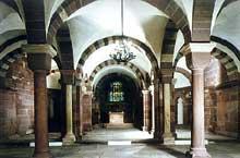 Strasbourg, cath�drale: la crypte romane