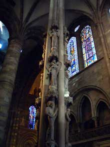 Strasbourg, cathédrale: le célèbre pilier des anges