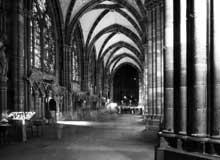 Strasbourg, cath�drale: le bas c�t� nord