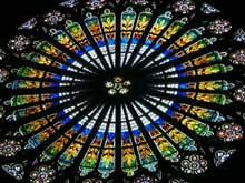 Strasbourg, cath�drale�: la rose de la nef