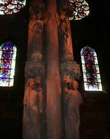 Strasbourg, cathédrale Notre Dame: le pilier du Jugement