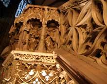 Strasbourg, cathédrale Notre Dame: la chaire de Geiler