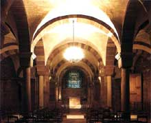 Strasbourg, cathédrale Notre Dame: la crypte