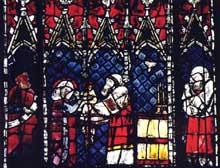Strasbourg, cathédrale Notre Dame: le pilier des Anges ou du Jugement