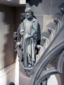 Strasbourg, cathédrale Notre Dame: apôtre; petit coté sud du jubé de la cathédrale. 3è quart du XIIIè. Atelier du jubé