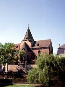 Strasbourg: église Saint Etienne: le chevet