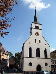 Strasbourg Krutenau: l'église saint Guillaume, ancienne paroisse de la puissante corporation des Bateliers