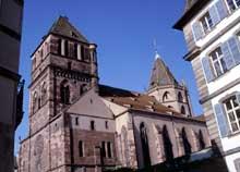 Strasbourg, église saint Thomas: vue de la rue de la Monnaie