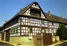 Vendenheim�: ferme du XVIII�. (La maison alsacienne)