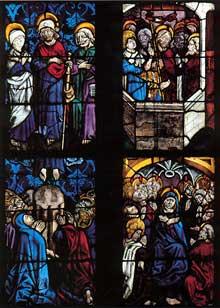 L'église de Walbourg: vitrail de Pierre Hemmel d'Andlau