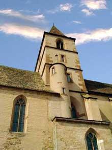 Walbourg: le clocher de l'église vu du sud