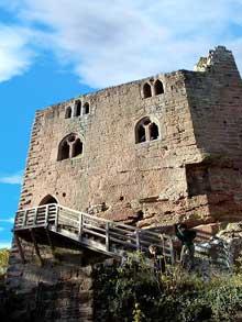 Le Nouveau Windstein: un château qui privilégie le confort par rapport à son homonyme le «Vieux»