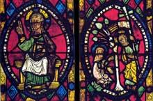 Westhoffen, saint Martin: Christ bénissant et Christ apparaissant à Marie Madeleine. Panneaux du chœur. Vers 1280