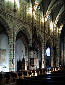 Wissembourg, abbatiale: élévation de la nef à deus étages
