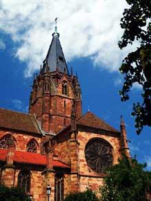 Wissembourg, abbatiale: transept et tour de croisée