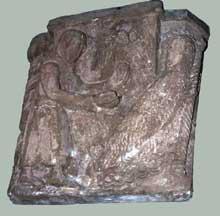 Chapiteau du XIIè provenant d'Alspach et conservé au musée d'Unterlinden à Colmar