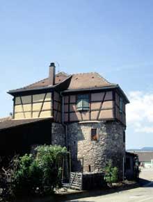Bergheim: une tour des remparts transformée en maison d'habitation