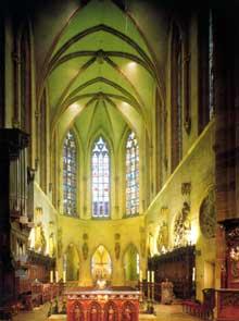 Colmar: l'intérieur le la collégiale saint Martin