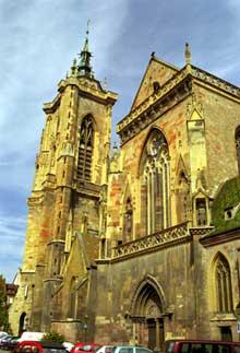 Colmar: saint Martin: clocher et transept sud