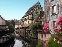 Colmar: la Petite Venise. (La maison alsacienne)