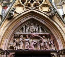 Colmar, saint Martin: le tympan du portail de la façade occidentale