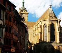 Colmar, saint Martin: le chevet et le choeur