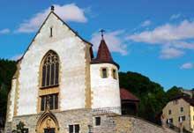 Ferrette: l'église gothique saint Bernard de Menthon