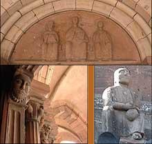 Guebwiller: saint Léger. Sculptures: tympan, portail