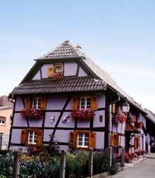 Hirtzbach: Maison de 1741. (La maison alsacienne)