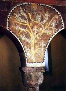 Hattstatt, sainte Colombe: chapiteau de l'arbre de Jessé
