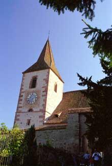 Hunawihr: l'église fortifiée
