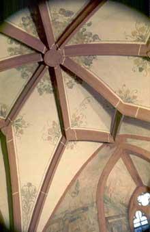 Hunawihr: voûte gothique de l'église