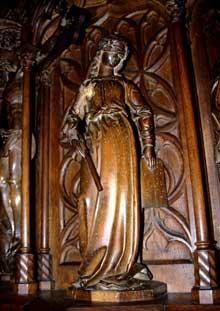 Kaysersberg: Eglise sainte Croix: détail de la chaire: la «Synagogue»
