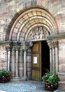 Kaysersberg, église sainte Croix: le portail
