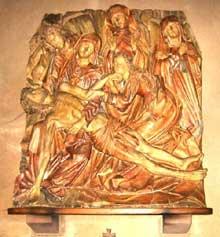 Kaysersberg, église Sainte Croix. La déploration de la croix, chef d'oeuvre de la sculpture gothique