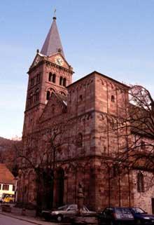 Lautenbach: le massif occidental de l'église
