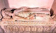 Murbach: gisant de l'abbé Eberhardt, second quart du XIIIè