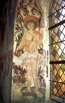 Ottmarsheim: Fresque de la chapelle surmontant le chœur