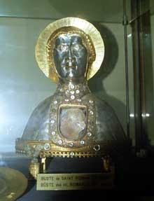 Reiningue: Le buste reliquaire de Saint Roman