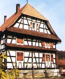 Riespach, dans le Sundgau. (La maison alsacienne)