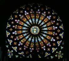 Rouffach: rose de l'église Notre Dame de l'Assomption