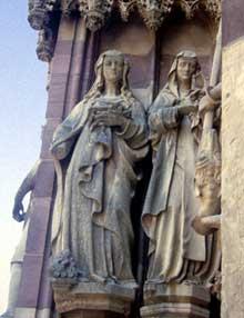 Thann: statues du portail central