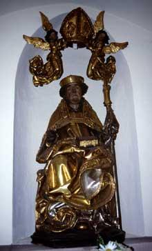 Thann: la statue de saint Thiébaud de la chapelle latérale