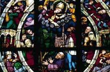 Thann: vitrail de la collégiale