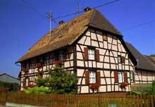 Wahlbach: belle maison du Sundgau, du XIXè. (La maison alsacienne)