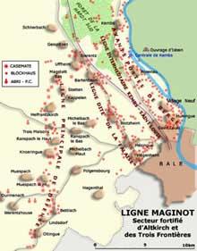 Ligne Maginot: secteur fortifié d'Altkirch et des Trois Frontières.