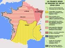 La France et l'Alsace sous le régime de Pétain.