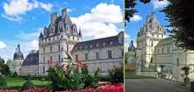 Valençay: le château renaissance, construit à partir de 1540, possède une galerie de 80m de long. Sur la façade extérieure les trois étages présentent les trois ordres classiques