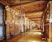 Château de Fontainebleau: la galerie FrançoisIer est l'œuvre de l'architecte italien Rosso Fiorentino