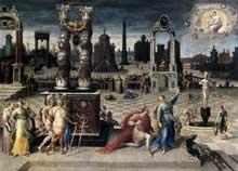 Antoine Caron: Auguste et la Sibylle. 1575-1580, huile sur toile, 125 x 170 cm. Paris, musée du Louvre